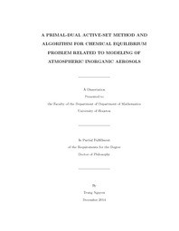 A Primal-Dual Active-Set Method and Algorithm for Chemical