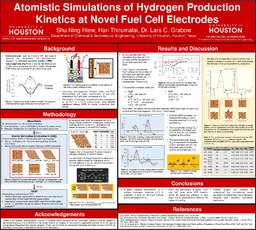 Atomistic Simulations of Hydrogen Production Kinetics at Novel Fuel